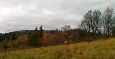 pohled na pozemek