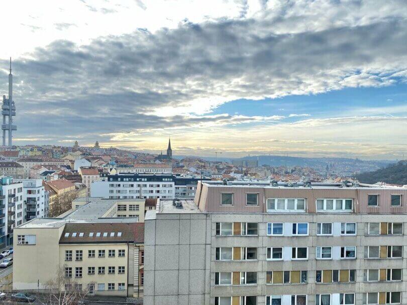 výhled na Prahu, Žižkovská věž, Hradčany